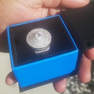 Iced out 925 silver men's ring